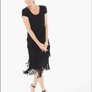 Chico's Short Fringe Black Dress